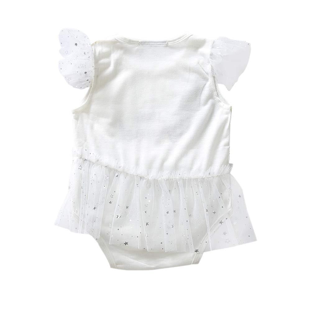 Engelchen-M/ädchen kleidet wei/ße Prinzessin Romper Baby Fashion Beachwear