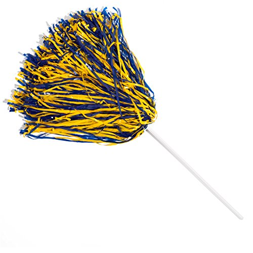 TCDesignerProducts Cheerleader Poms, Royal/Gold (2 Pack) Sports Poms -