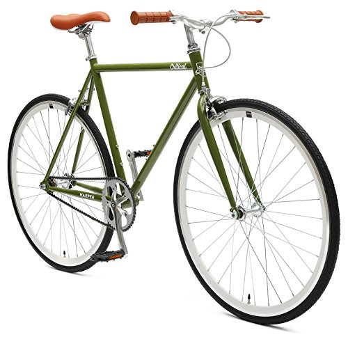 Critical Cycles Harper Single-Speed Fixed Gear Urban Commuter Bike; 53cm, Sage ()