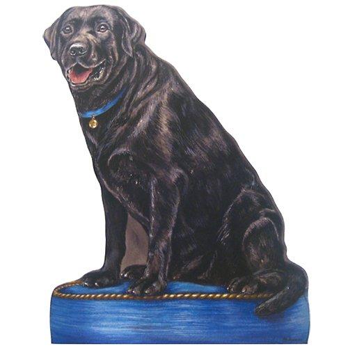 Black Lab Dog Doorstop