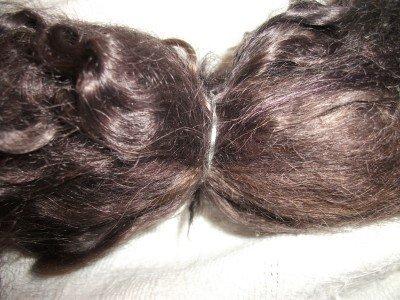 Dark Brown Real Mohair Locks - Doll Hair Rooting - Wig Hair (Doll Wig Mohair)