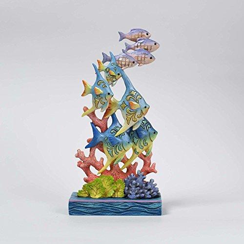 Jim Shore HWC Sea Lifes Beauty Ocean Wonderland Fish by Coral Figurine -