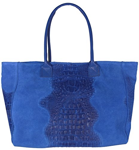 Bag Women's Kroko Blau Handle Top Freyday tqIwdvPq