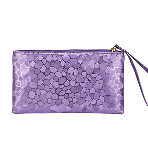 Bags Clutch Fashion Purple Zero Wallet Women Phone Change Lively Stone Key Coins Texture Paymenow Purse Zipper q8d16Fw8