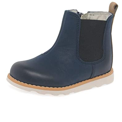 f51d05a4e Clarks 3714-57G Crown Halo Navy Leather Kids First Shoes: Amazon.co ...