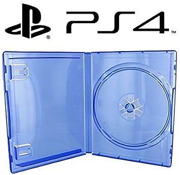 1 CAJA PARA JUEGO PS4 - azul transparente: Amazon.es: Electrónica