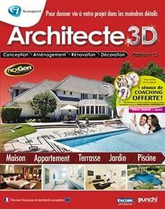 Avanquest Architect 3D Platinum 15, Win, FR - Software de diseño automatizado (CAD) (Win, FR, ENG, 5500 MB, 512 MB, Pentium 1.00 GHz)