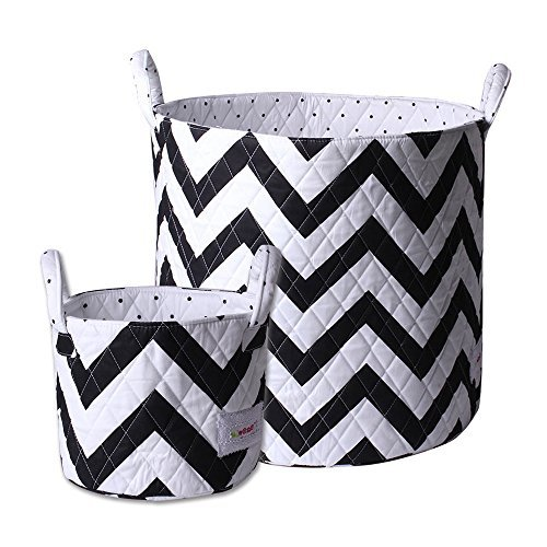Minene Storage Set (Large/Small, Black and White Chevron) by Minene by Minene