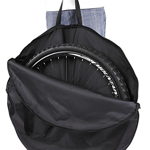 Alomejor Bicycle Wheel Bag Cycling Soft Nylon Wheel Carry Bag Bike Carrier Wheel Bag Black for Mountain Bike Road - Case Bicycle Wheel