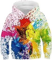Baby Girls Boys Teen Hoodie Sweatshirt Tops 6-13 Years Old Kids Children Long Sleeve Paint Print Pullover Shir