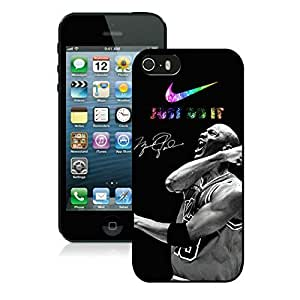 New Custom Design Cover Case For iPhone 5s Generation Michael Jordan 4 Black Phone Case