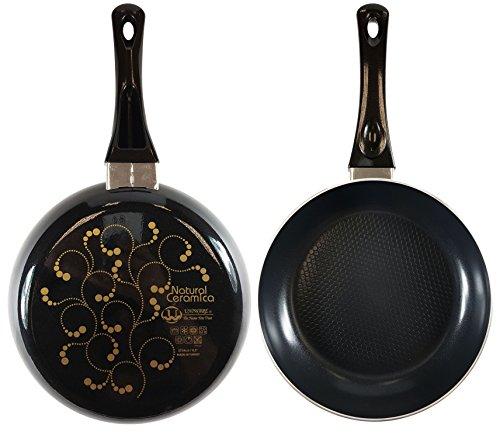 5100-24B Uniware Super Quality Ceramic Non-stick Frying Pan, Unique Gradient Color (9.5 Inch, Black)