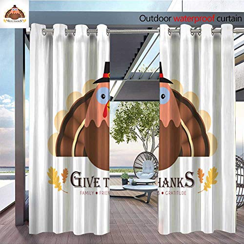 6 Sturbridge Light (QianHe Dance Outdoor Indoor Curtain - Give-Thanks-6.jpg Waterproof Patio Curtain W84 x L96(214cm x 245cm))