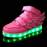 SLEVEL LED Light Up Shoes USB Flashing Sneakers for