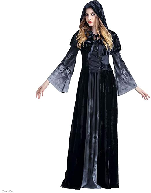 DDHZTA Halloween Terror Larga Falda Vampire Escena Apertura ...
