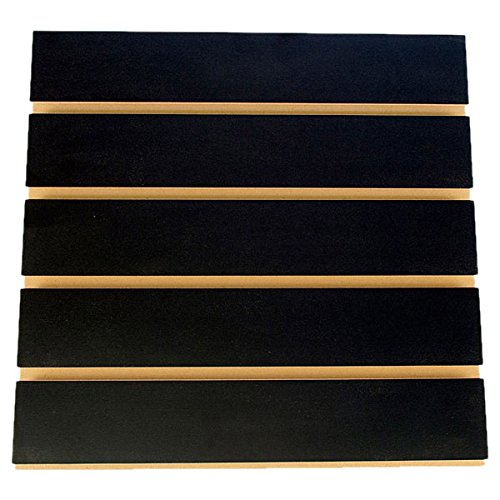 KC Store Fixtures A01103 Slatwall Melamine, 4' x 8' x 3'' Oc, Black (Pack of 5) by KCF