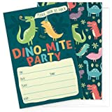 Dinosaur Kids Party Invitation Cards - Lots of Fun with...