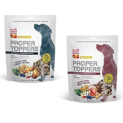 Honest Kitchen Bundle: The Human Grade Dehydrated Grain Free Dog Food Topper Variety Pack (2 Pack)
