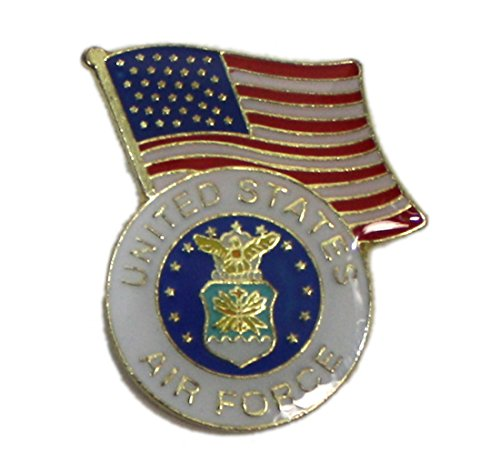 Ted and Jack - Wear It Proudly Ceramic and Metal Military Lapel Pin (Air Force Flag)