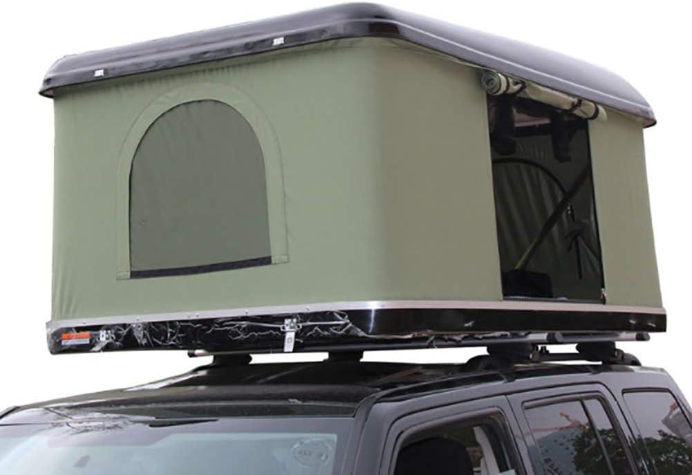 Guscio Duro Tenda da Tetto Auto 2-3 Persone Tenda Verde Guscio Nera con Scala Pieghevole in Lega di Alluminio