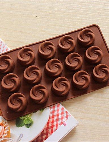 hjlkp Bakeware forma de molinete de silicona de horno Moldes para chocolate: Amazon.es: Hogar