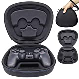 Sisma Game Controller Holder Case for PS4 Official DualShock 4 Wireless Controller, Heavy Duty Protective Cover Hard Shell Pouch Fit - Black (Color: Black)