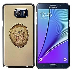 Caucho caso de Shell duro de la cubierta de accesorios de protección BY RAYDREAMMM - Samsung Galaxy Note 5 5th N9200 - Erizo lindo bebé