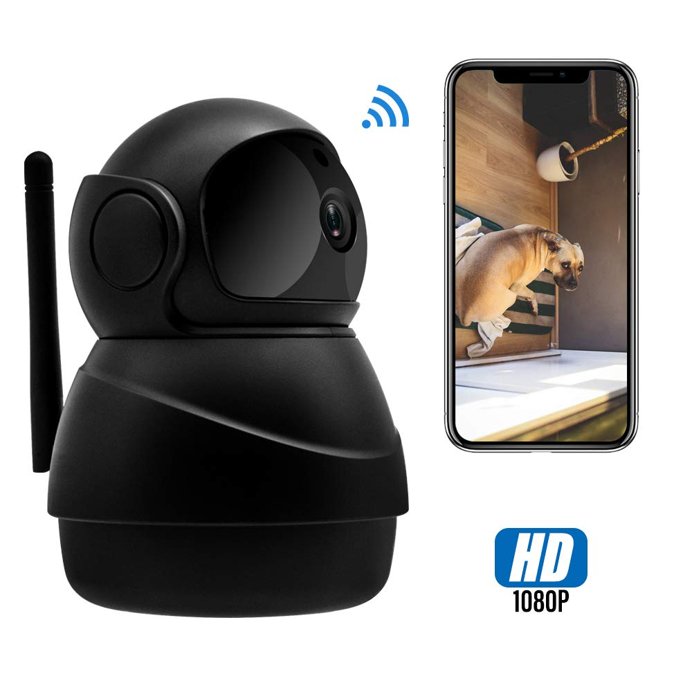 Veroyi IP Camera Full HD 1080P WiFi Home Surveillance Security Camera with Pan/Tilt/Zoom Function, Two Way Audio Night Vision Camera