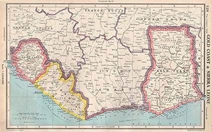 WEST AFRICA: Gold Coast (Ghana) Sierra Leone Liberia Ivory Coast