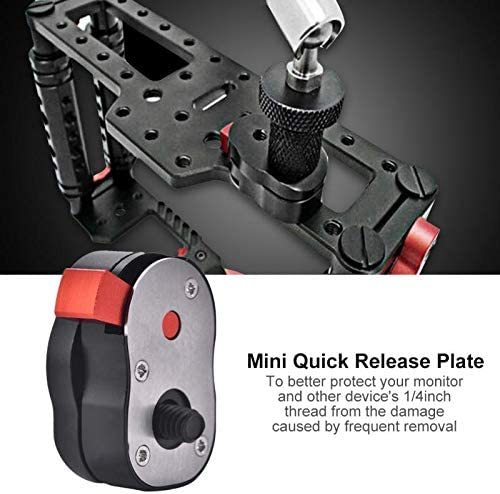 Mini Quick Release Plate Mount Adapter For LCD Monitor Camera /& DV Camcorder Hot PrinceShop