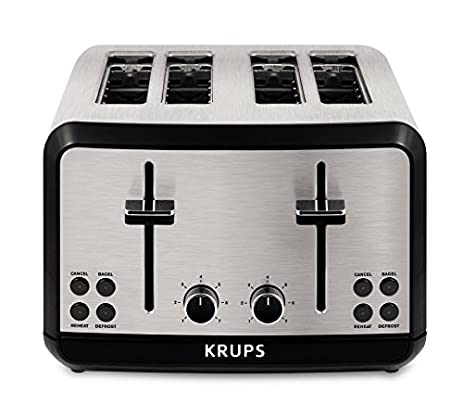 Amazon KRUPS KH3140 SAVOY Brushed Stainless Steel Toaster