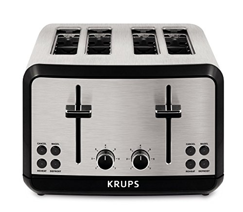 KRUPS KH3140 SAVOY Brushed Stainless Steel Toaster with Bage