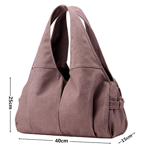 Totes Bag Slouch Available Colours Shoulder Canvas Bag Purple Shopper Women's PB Hobo Vintage 5 Bag SOAR Handbag White wFBq0qf