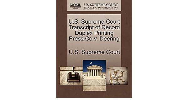 Duplex Printing Press Co. v. Deering