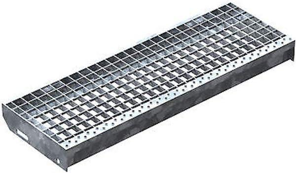 Stahltreppe Industrietreppe Aussentreppe Treppe 17 Stufen-Breite 110cm Variable Geschossh/öhe 282-350cm mit einseitigem Gel/änder