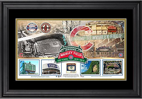 Field 100th Anniversary Framed Stadium Panoramic with Game-Used Ball - Limited Edition of 500 - Fanatics Authentic Certified (Limited Game)