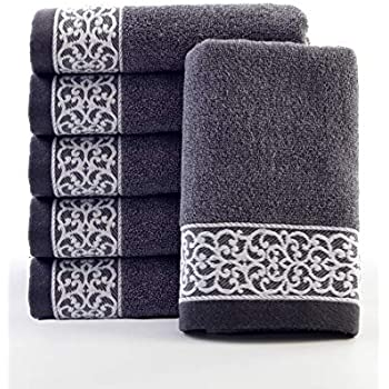 Lvse Luxury Decorative Best European Hand Towel (1-Piece), 100% Organic Cotton 387gsm, Fade Resistant, Soft and Absorbently, Ecological for Men and ...