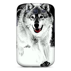 S3 Scratch-proof Protection Case Cover For Galaxy/ Hot Wolf Art Phone Case