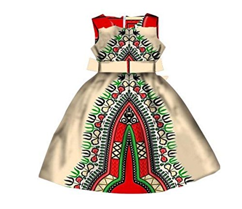 Size Stylish Dashiki Coolred Dress Plus Party Print Long Girls Four Loose African w05ngRA7n