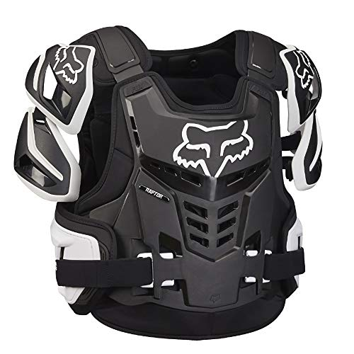 Fox Racing Raptor Vest Mens Roost Deflector Body Armor - Black/White  - Fox Chest Protector