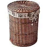 Kaiyu Storage Box Household Hamper Wicker Covered Storage Box Large Laundry  Basket Dirty Clothes Clothing Storage
