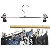 Kleiderbügel 10 St. Klammernbügel aus Metall, verschiebbaren Metallklammern 40cm (Hosen- oder Rockbügel)