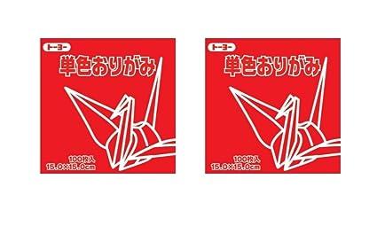 Toyo Origami Paper Single Color 100 Sheets 15cm 1 Black