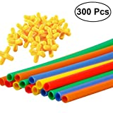 TOYMYTOY 300pcs Straw Connectors Toy Straw Constructor Interlocking Engineering Toys Kids Educational Toys for Kids Children 2018 New Year Birthday Gift