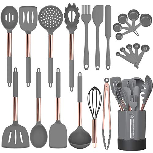 Silicone Cooking Utensil Set, Fungun 24pcs Silicone Cooking Kitchen Utensils Set, Non-stick Heat Resistant – Best…
