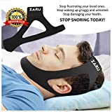 PREMIUM Anti Snore Chin Strap by ZARU - Advanced Snoring Aid Scientifically Designed To Stop Snoring Naturally and Give You The Best Sleep of Your Life