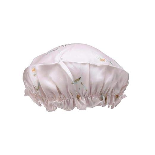 Miwaimao Gorro de baño Seda, con Estampado de Lirios y Sombreros ...
