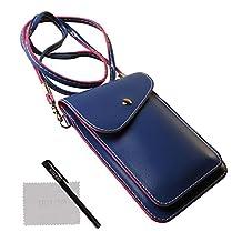 xhorizon TM SR Universal Multipurpose Elegant PU Leather Crossbody Single Shoulder Bag Cellphone Pouch/Purse with Shoulder Strap For iPhone SE 6/6S Plus,Samsung S5 S6 S6edge S7 S7edge, LG G3 G4 G5
