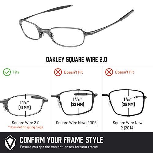 Múltiples Sigiloso 2 Wire Polarizados Negro Repuesto — Oakley Elite Square De 0 Para Opciones Lentes qOwHvv