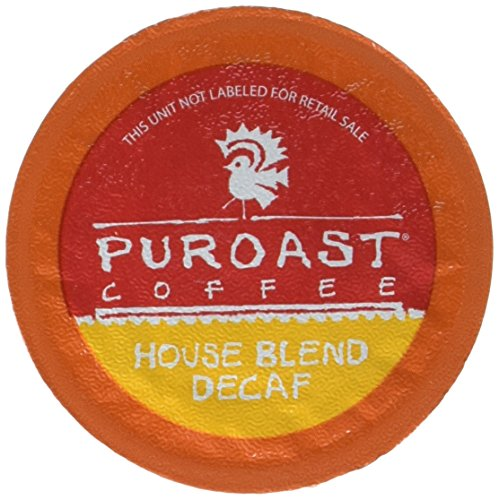 Puroast Low Acid Coffee Single Serve, 2.0 Keurig Compatible, Decaffeinated House Blend, 12 Count